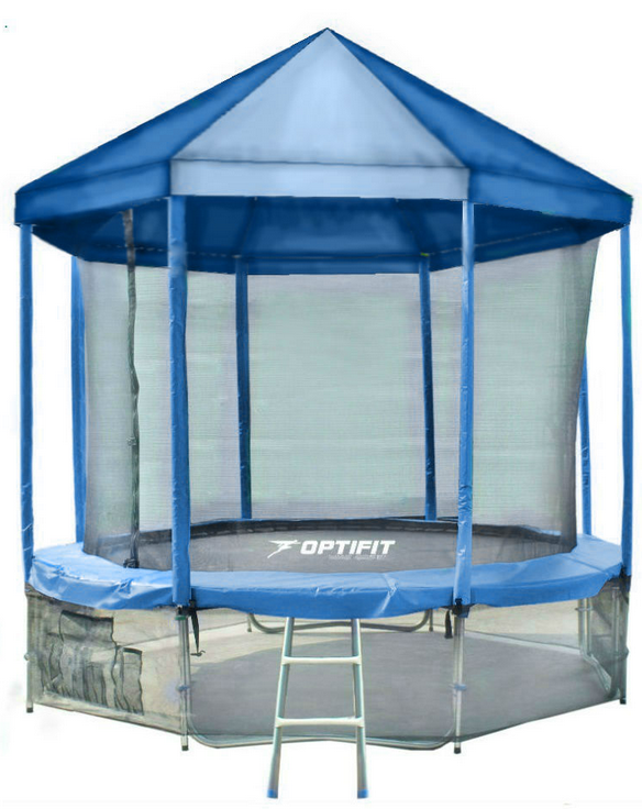 Батут Optifit Like Blue 10ft (3,05м) с синей крышей